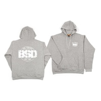 BSD ESTABLISHED PULLOVER HOOD HEATHER GREY L