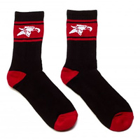 Animal High Black/Red Socks