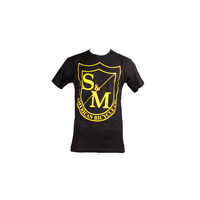 S&M Big Shield Tee Yellow On Black